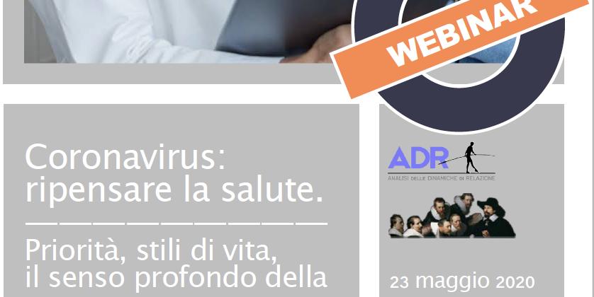 Coronavirus: ripensare la salute